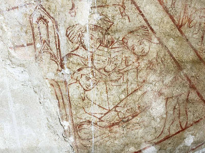 Wall painting detail