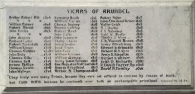 Vicars of Arundel